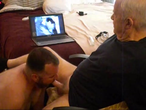 Daddy Watching Porn...... Busty wife licking tits fuck gif