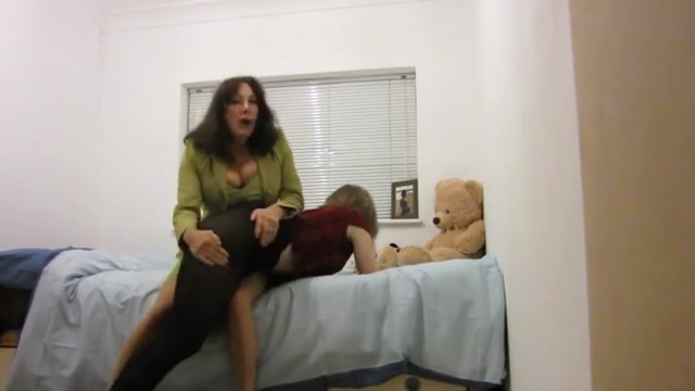Spanked then put in closet
