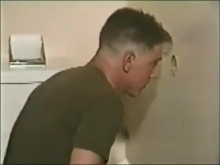 Military Boys Sucking in Restroom tits in cum compilation