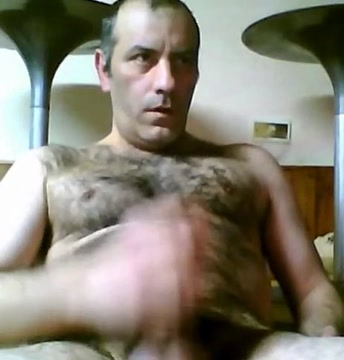 Hot hairy daddy realistic black cock dildo