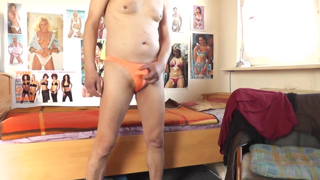 cover male pouch enhancing strap orange Female ejaculation fisting