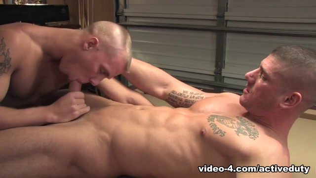 Kasey & Shawn Military Porn Video leather pants skin tight