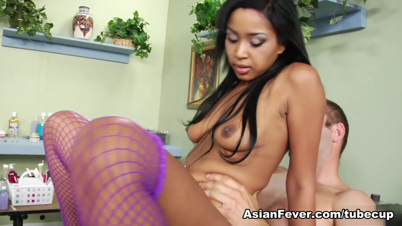 Katt Dylan in Asian Sex Delinquents: Pedicure Pussy Brunette slave suck dick and fuck