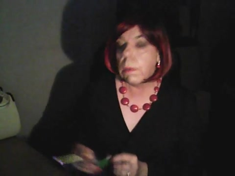 Late night smoke skinny redhead in red corset porn tube video