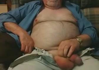 Hairy Grandpa Bear Fondling His Cock spanked boss f m