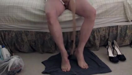 Putting on stockings heels and two cums on my feet scarlett johansson cup size