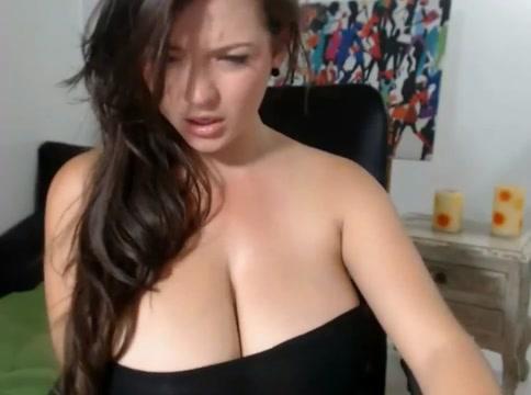 Huge titted Girl wild masturbation on cam