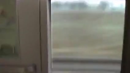 MILF toying on a train