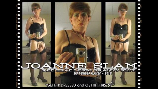 Joanne slam - red head lesbo tranny slut Bigtitted redhead tgirl fucking shemale