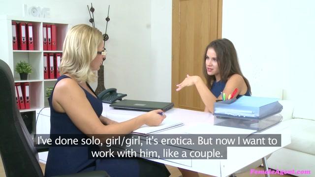 Emma Tracy in Sexy Casting Ends in Lesbian Lust - FemaleAgent free porn tnafix.com retro porn