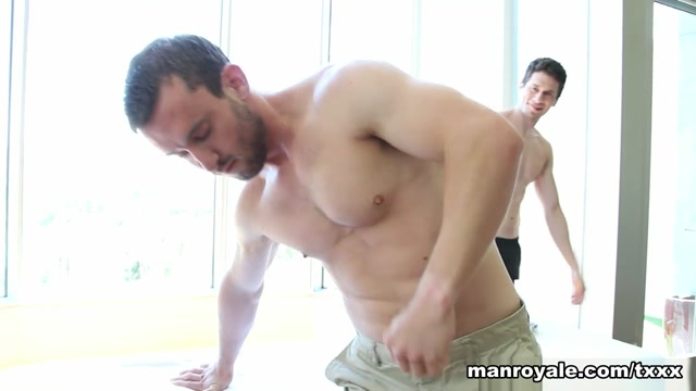 Joey Moriarty & Mike Gaite in Afternoon Rub Down - ManRoyale fucking male blow up dolls