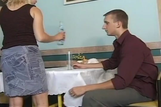 Hot Waitress Gets Fucked on Top of the Table Red head vibrator squirting orgasm free sex videos watch