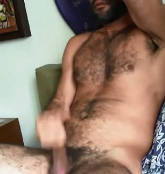 Hairy guy stroking How oral sex works