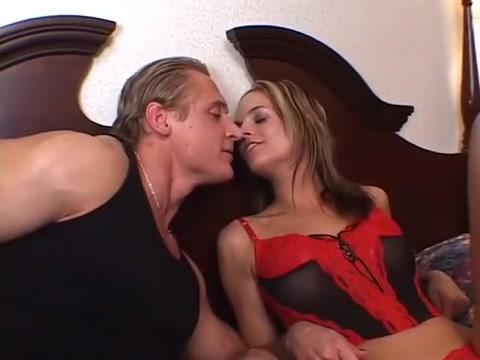 Exotic pornstars Crissy Cums and Trina Michaels in amazing blowjob, threesomes porn clip