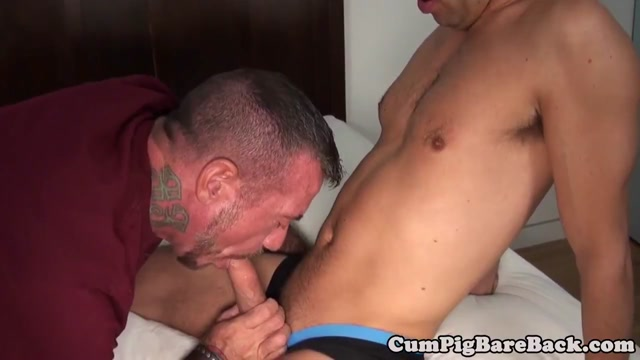 Ripped mature bear cocksucks in bareback trio raven riley sex vids