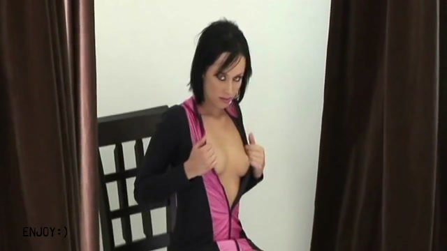 Very Tight Brunette Sexy busty babe porn