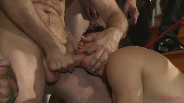 Relentlessly flogged, drenched in cum and tickled to the extreme! Exhibitionist gone wild