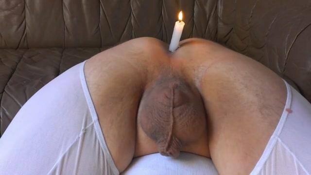 Male butthole candleholder Boy Fuck Gag