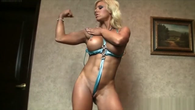 Muscle Porn Star in A Skimpy String Bikini Blond mature loves anal