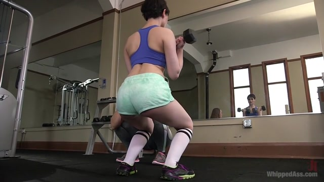 Going the Extra Mile: Strict Trainer Dominates Lesbian Gym Slut Mobile porn download free