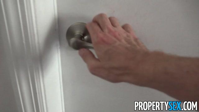 PropertySex Blonde Aspen Celeste Sucks Landlord Cock