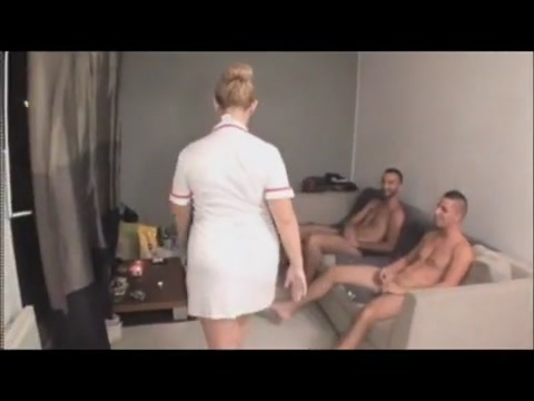 Bbw french nurse with huge tits fucked