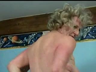 Naughty old slut rubs her wet cunt