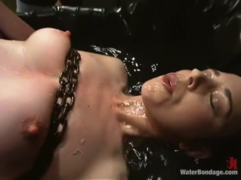 Anastasia Pierce in Waterbondage Video Euro lesbian fisted in sexy lingerie