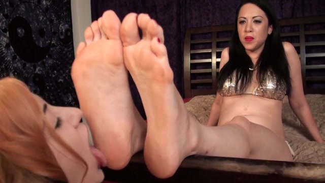 Orgasmic foot worship