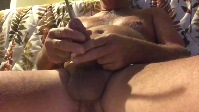 Sounding with a 8mm rod. Such fun. sister sucks brothers penis