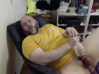 Big bear with fleshlight and cumming Mature adult vieo