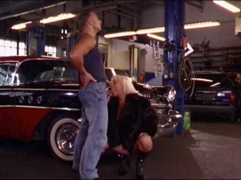 Sandra Blond Power Fucked Over Hood Of Car By Horny Mechanic