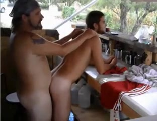 Master enjoying and getting serviced gay bathhouse porn video