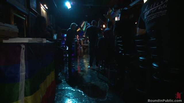 Horny bar patrons have fun with the hot go-go dancer for SF Pride! Claudia Marie Porn