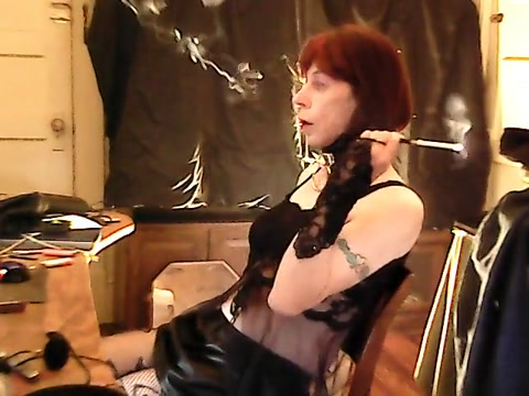 Smoking with a holder adult breastfeeding porn movies