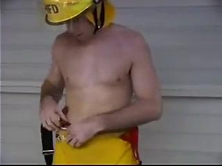 American firefighter showing off Oksana pochepa bikini
