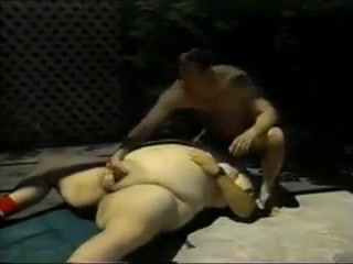 Chubby in garden play How to keep my man happy