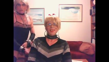 Two nice clothed crossdressers in a blowjob-clip Dressed lesbian sex vids