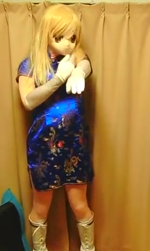 My kigurumi dressed in cheongsam goalie gear for pee wee