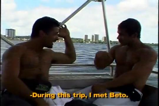 Brazilian junior men Hot tina in the warm whirlpool