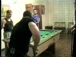 Follando en la Mesa de Billar Brutal double anal gangbang big booty