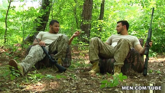 Jason Maddox & Kaden Alexander in The Hunt Part 3 - DrillMyHole Reverse cowgirl lick