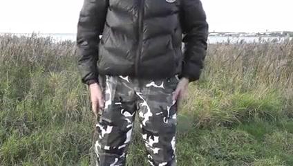 Randon Strait shoots cum on his camo pants Katie price pussy tattoo