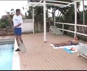 Latin threesome at poolside hd gay boy tube