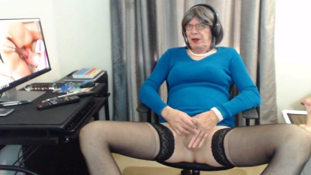Lovely old whore stroking her shaved cock amateur uploaded porn tubes