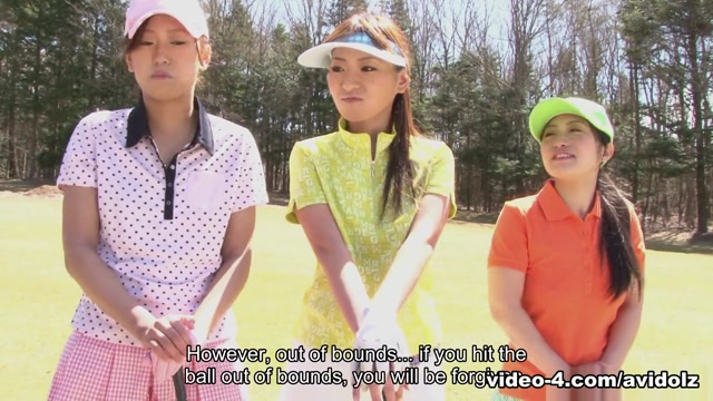 Nana Kunimi in Golf loving hottie Nana Kunimi and her friends get used up - AviDolz free bisexual video clip