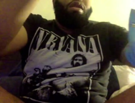 Beefy Hairy Black Guy Cums On Cam Fucking my mexican bbw girl friend