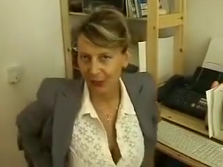 Accountant massaging pussy
