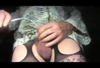 Urethral sounding sissy transvestite cock lingerie nylon Lisa ann riding cock