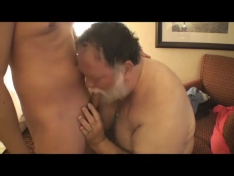 Older Pig Daddy is Addicted to Twink Dick Pasty white tits